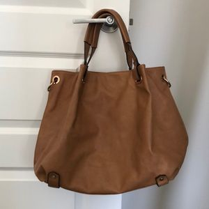 Mango Touch brown bag with detachable long strap